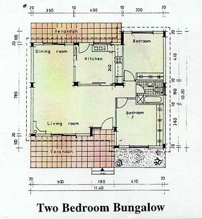 two bedroom bungalow plans Homedesignviewco