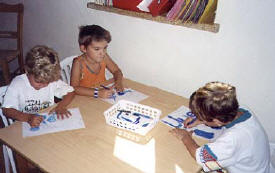 Wonderworld Nursery school & Kindergarten in Larnaca, Cyprus  pupils learning to concentrate.