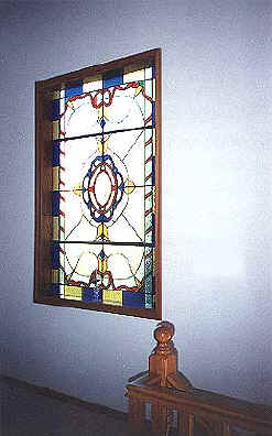 Akrounda village old house for sale near Limassol in cyprus stained glass window.JPG (30011 bytes)