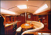 The Boat Interior - spacious and modern with a cosy feel