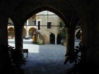 Looking into a courtyard in Nicosia, Cyprus