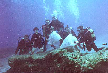environmental cleanup divers in Cyprus