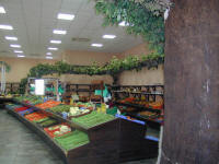 A vegetableshop in Cyprus has a vast selection of fresh fruit and vegetables