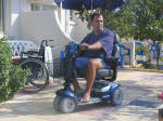 Power scooters available for rent all over Cyprus. - click to enlarge