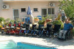 Power wheel chairs available for rent all over Cyprus.- click to enlarge