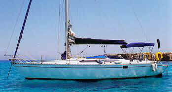 Sunfizz - Sailing, yacht chartering, cruises in Cyprus- the boat in harbour