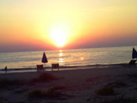 Sunset at the Venus Beach Hotel in Paphos Cyprus
