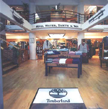 Timberland clothing shop in Cyprus